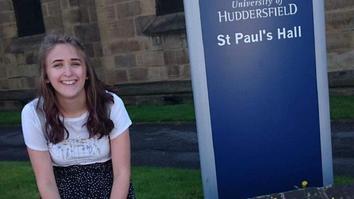 Mollie student at university of huddersfield